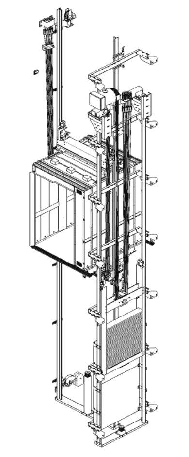 ascensore MRL senza locale macchina